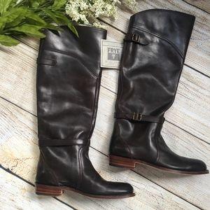 Frye DORADO RIDING boots -  dark brown - NEW